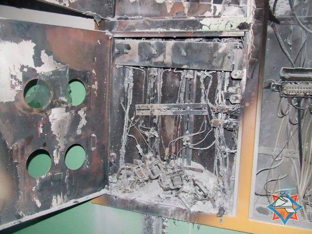 Сгоревший электрический щит