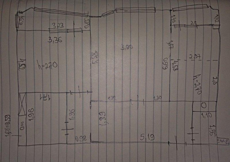 Поэтажный план квартиры перед ремонтом