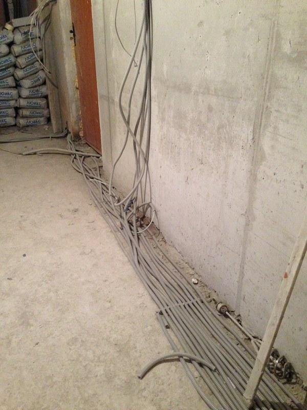 Укладка проводов в новой квартире