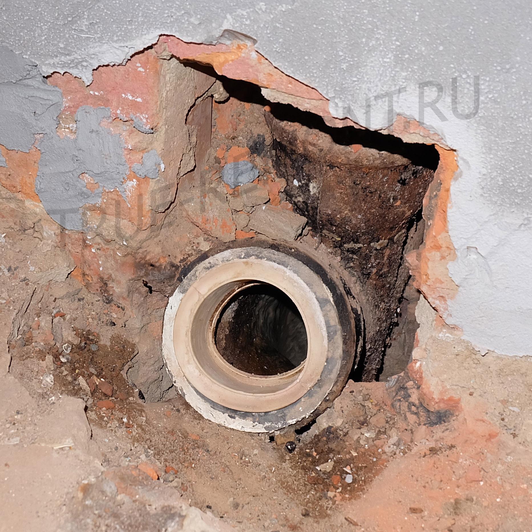 Старая канализация в хрущёвке