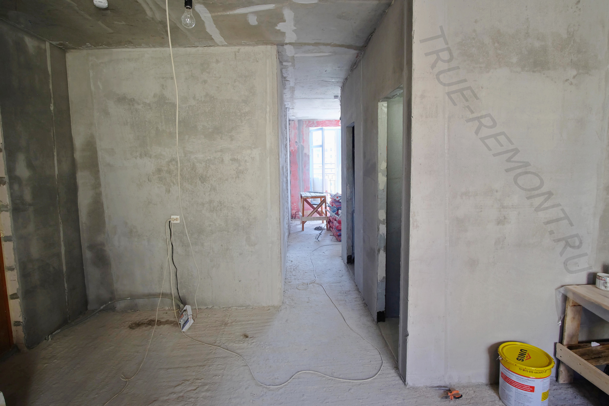 Штукатурка квартиры в ЖК Опалиха О3