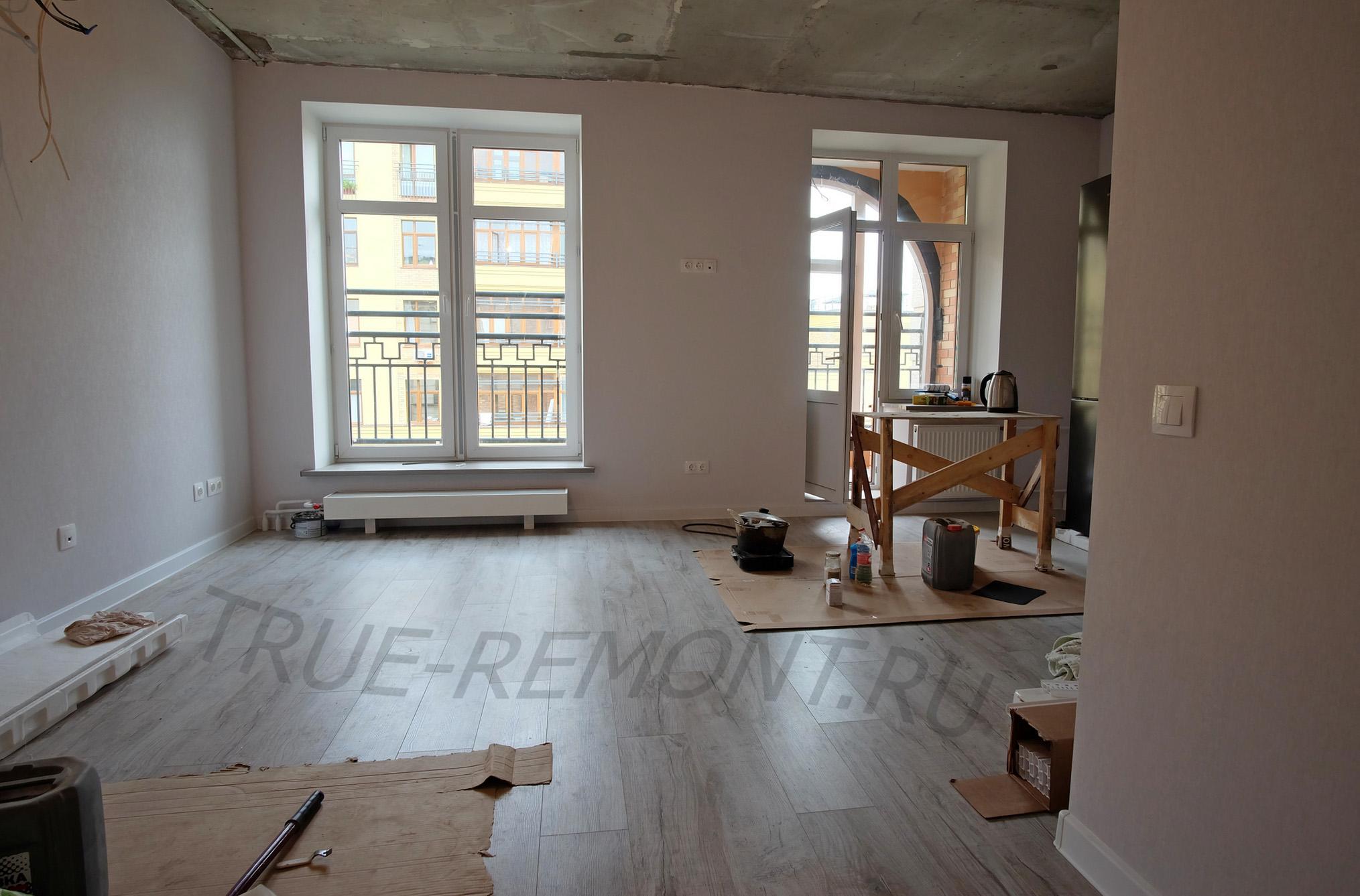 Ремонт в квартире с большими окнами