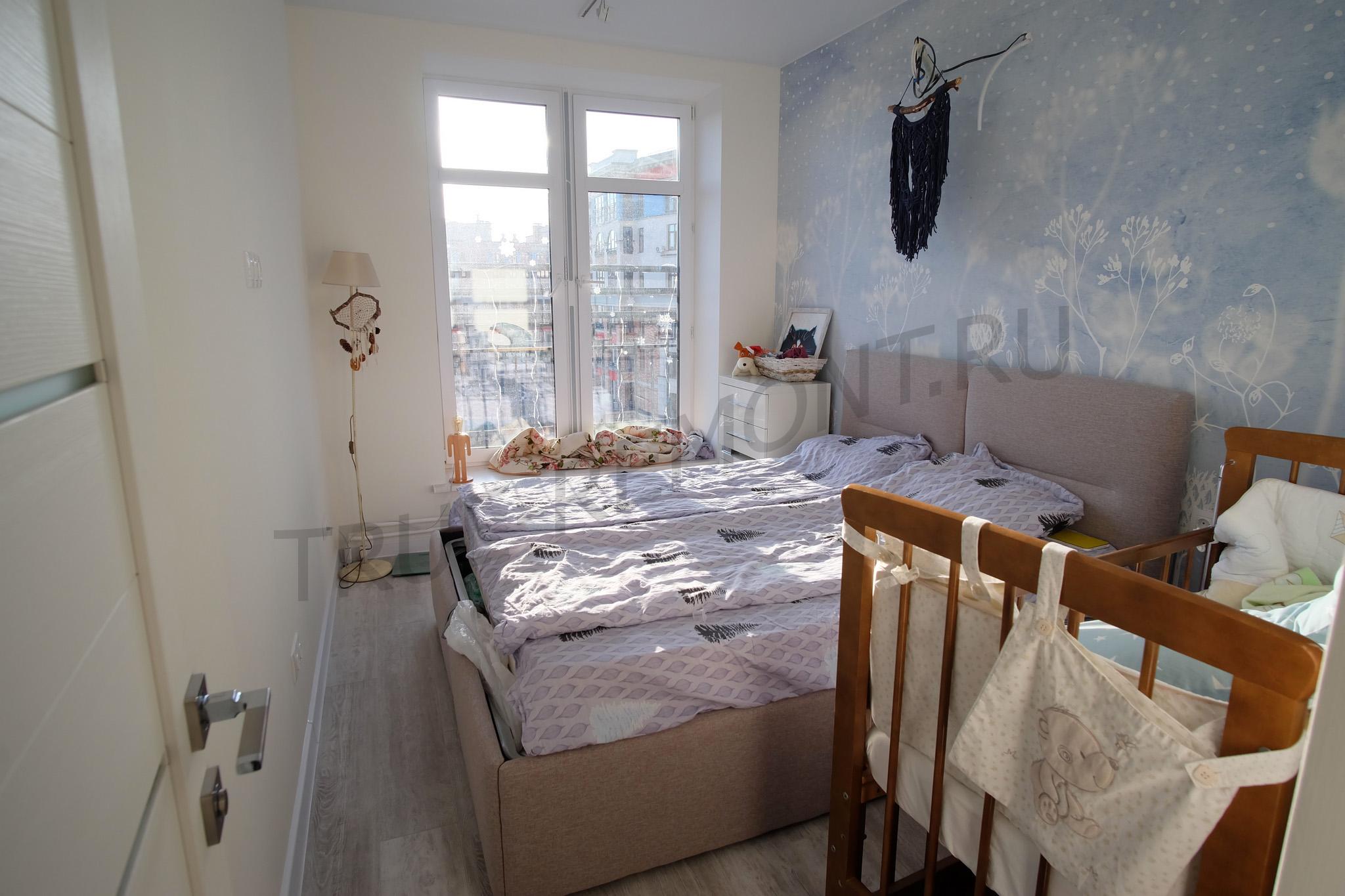 Спальная комната в нежных цветах
