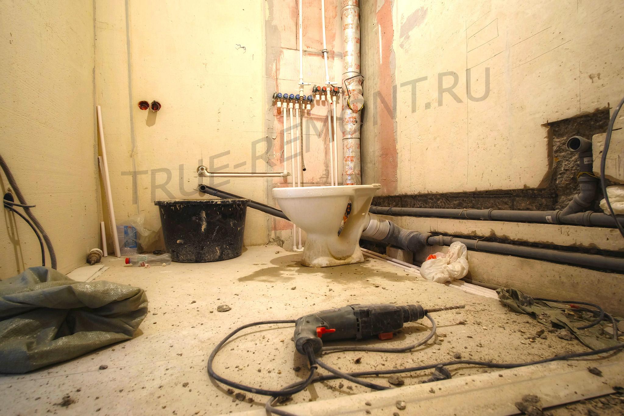 Разводка водопровода и канализации в квартире ЖК Красногорский