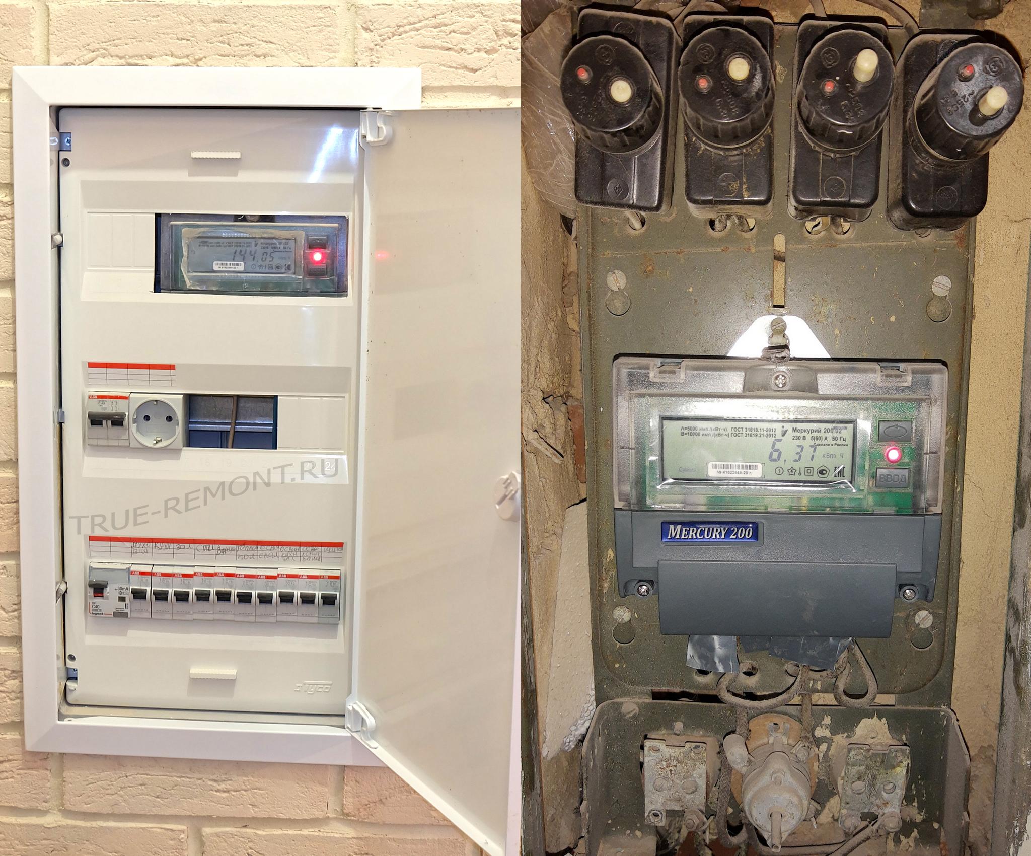 Новый электрощит для старой хрущёвки