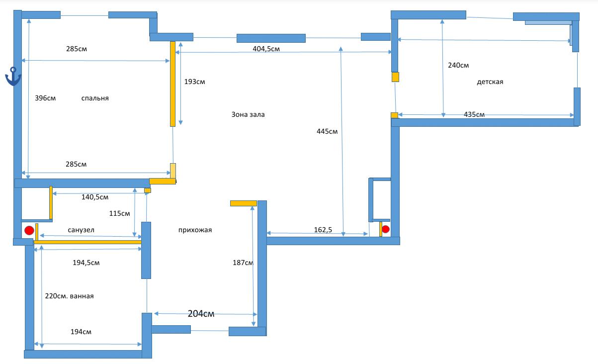 План ремонта квартиры в ЖК Тетрис