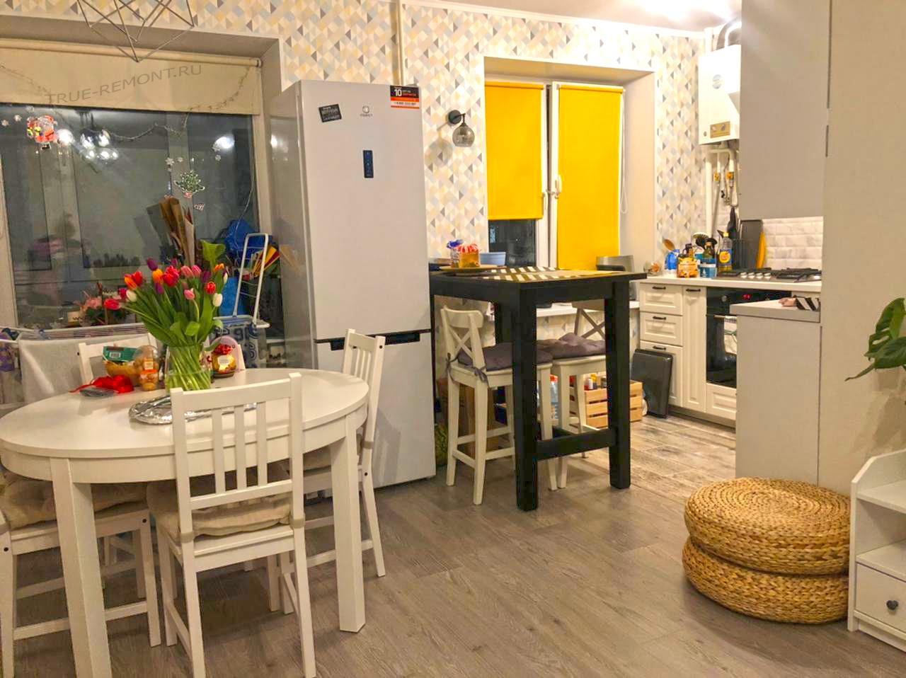 Кухня-столовая в типовой хрущёвке