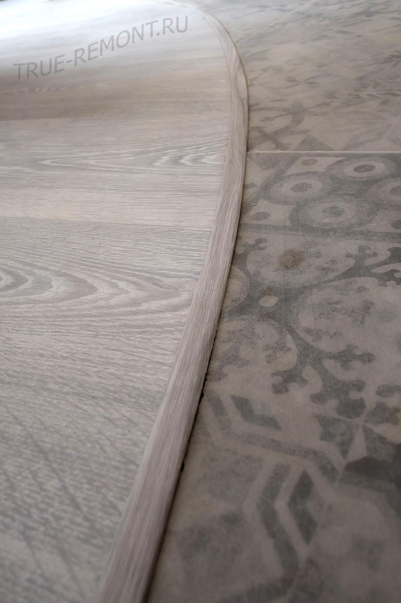 Виды стыков ламината и плитки